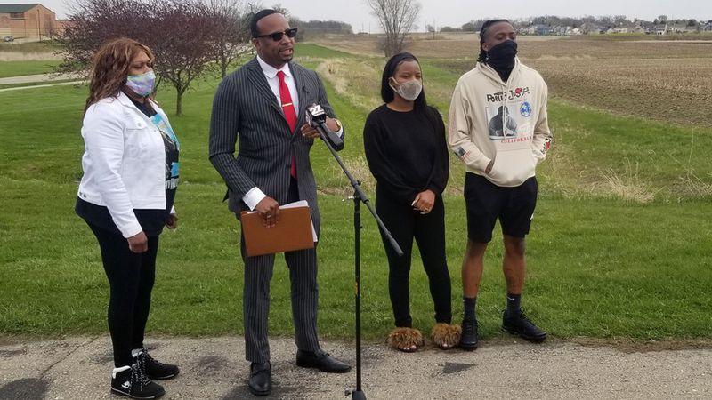 Attorney B'Ivory Lamarr announces a lawsuit against the Sun Prairie Area School District, on...