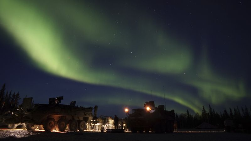 The aurora borealis should be visible across the northern tier of the United States in an arc...