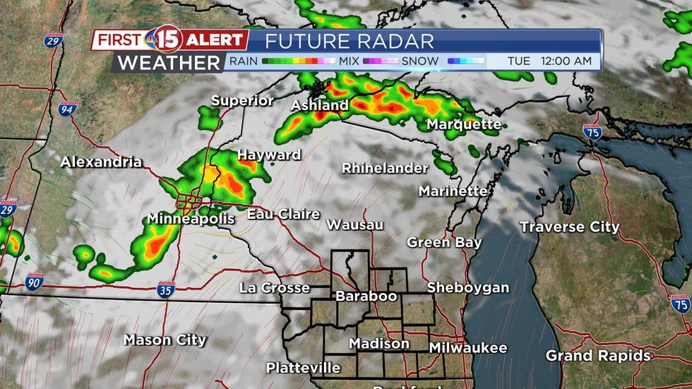 Future Radar - Tuesday 12AM