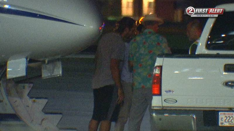 Aaron Rodgers lands at Austin Straubel Airport ahead of Packers 2021 Training Camp.
