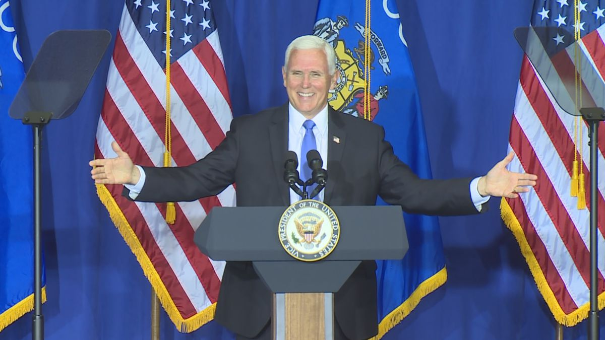 The Vice President highlighted his support for law enforcement and economic recovery during...