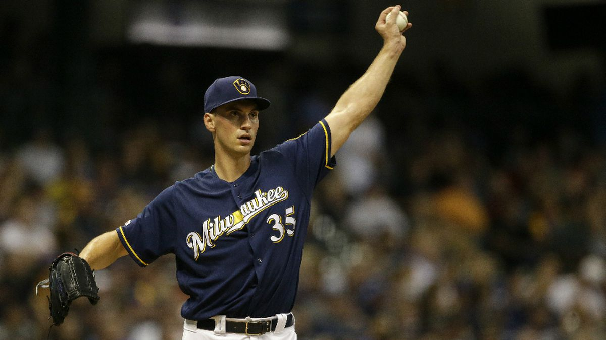 Milwaukee Brewers' Brent Suter pitches during the sixth inning of a baseball game against the Pittsburgh Pirates Saturday, Sept. 21, 2019, in Milwaukee. (AP Photo/Aaron Gash)