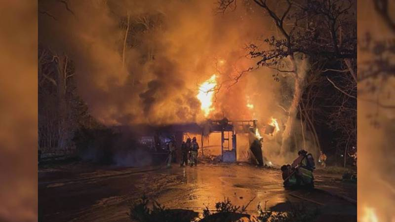 Fire crews responded to a fire Saturday night on Lacy Road.