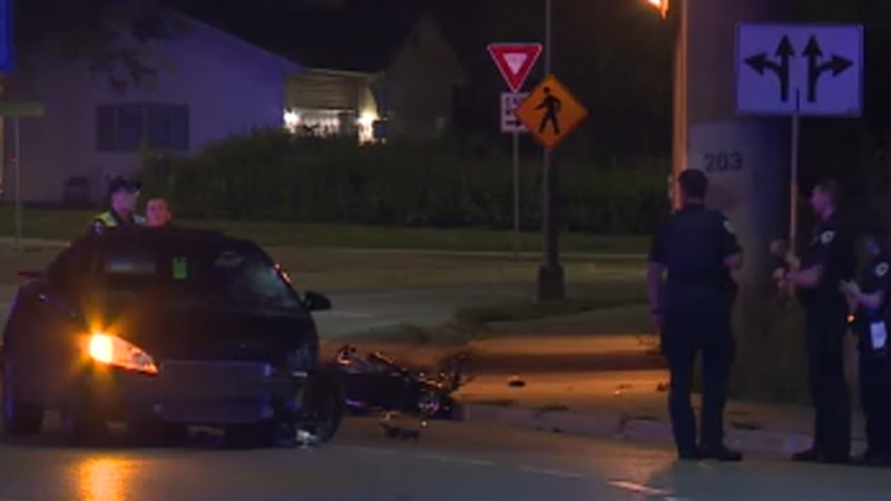 MPD is searching for a suspect who ran away after allegedly hitting a motorcyclist on Madison's...