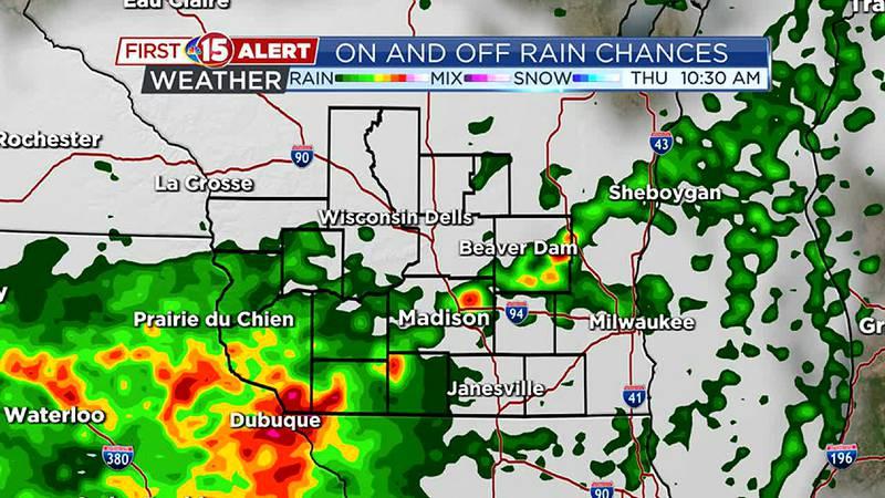 Rain chances Thursday/Friday