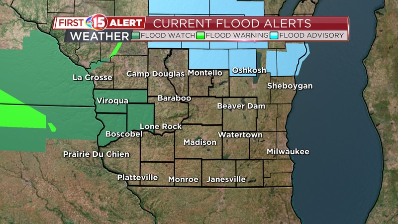 A Flash Flood Watch is in effect for Richland and Crawford Counties until Saturday morning.