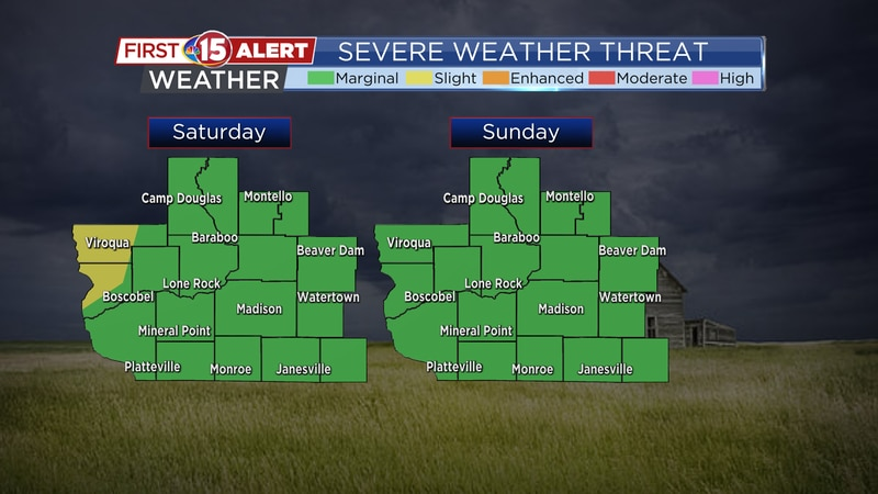 Severe Weather Threat Maps - Saturday and Sunday