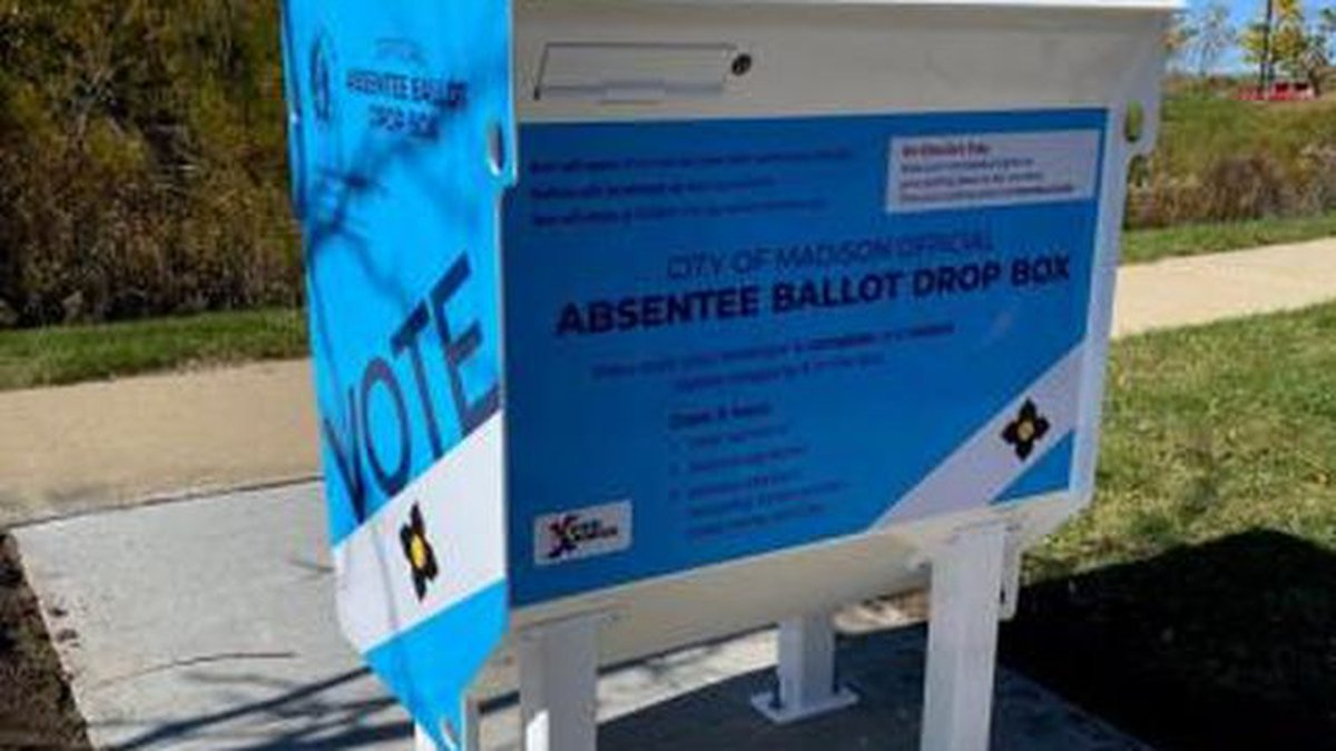 The City of Madison is setting up more than dozen drop boxes across the city for absentee...