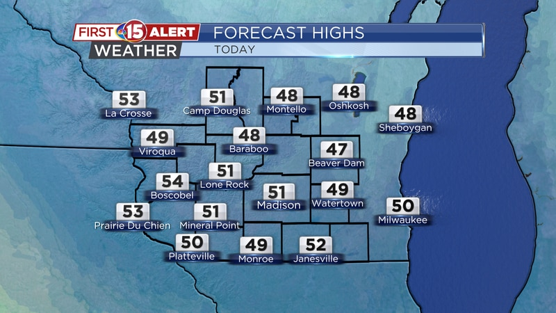 Wednesday's High Temperatures