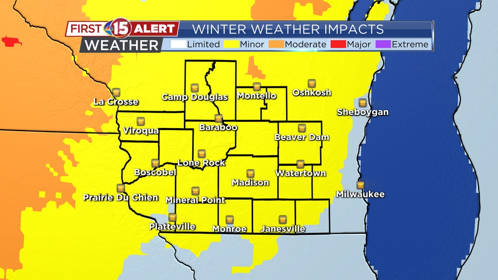 While impacts from today's weather event seem to be minor, a heavier band of snowfall in the...
