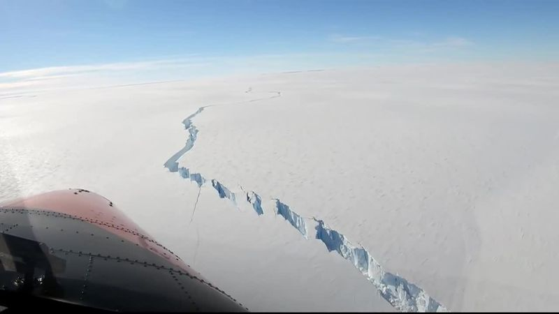 A huge iceberg that's bigger than New York City broke off near a UK base in Antarctica.